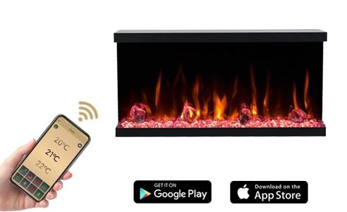 Future elektromos kandalló mobil applikációval