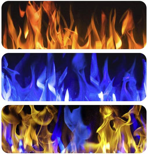 Beállítható a lángok színe